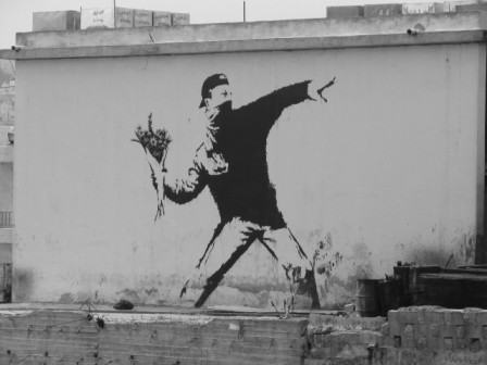 Banksy: a bouquet of flowers